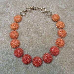 Banana Republic orange statement necklace